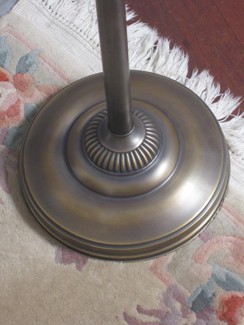 stehlampe neu messing jugendstil 1flammig mit bogen ebay. Black Bedroom Furniture Sets. Home Design Ideas